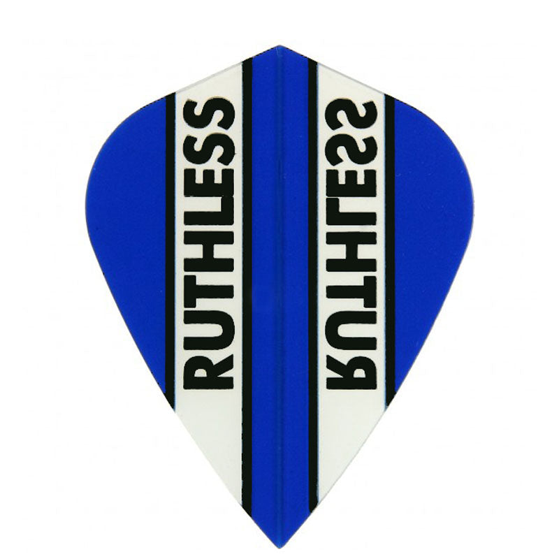 Ruthless Kite Clear Panel Extra Tough Flights - Blue