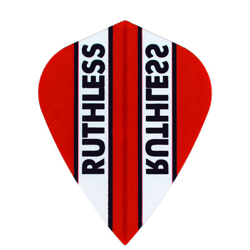 Ruthless Kite Clear Panel Extra Tough Flights - Red