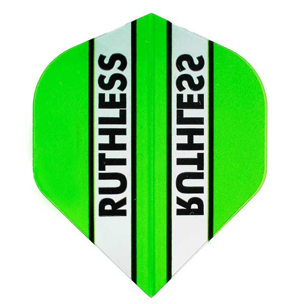 Ruthless Clear Panel Extra Tough Flights - Green