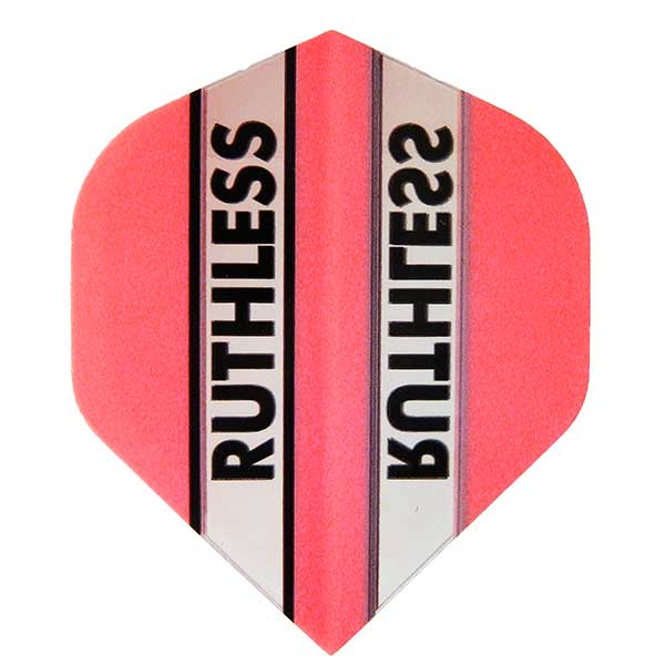 Ruthless Clear Panel Extra Tough Flights - Pink