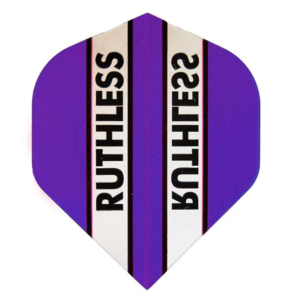 Ruthless Clear Panel Extra Tough Flights - Purple