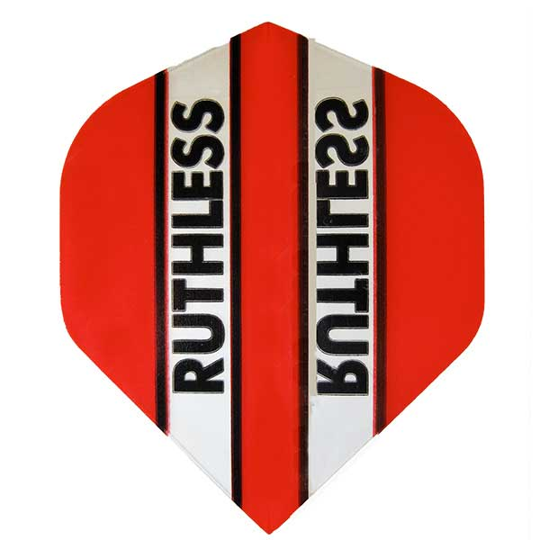 Ruthless Clear Panel Extra Tough Flights - Red