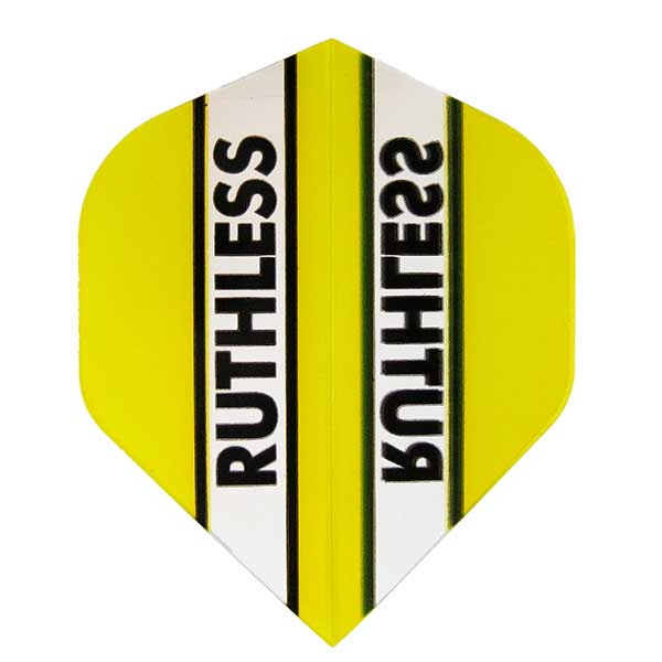 Ruthless Clear Panel Extra Tough Flights - Yellow