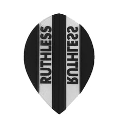 Ruthless Pear Clear Panel Extra Tough Flights - Black