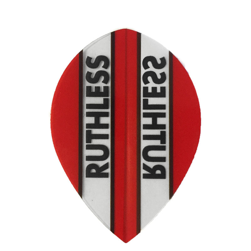 Ruthless Pear Clear Panel Extra Tough Flights - Red