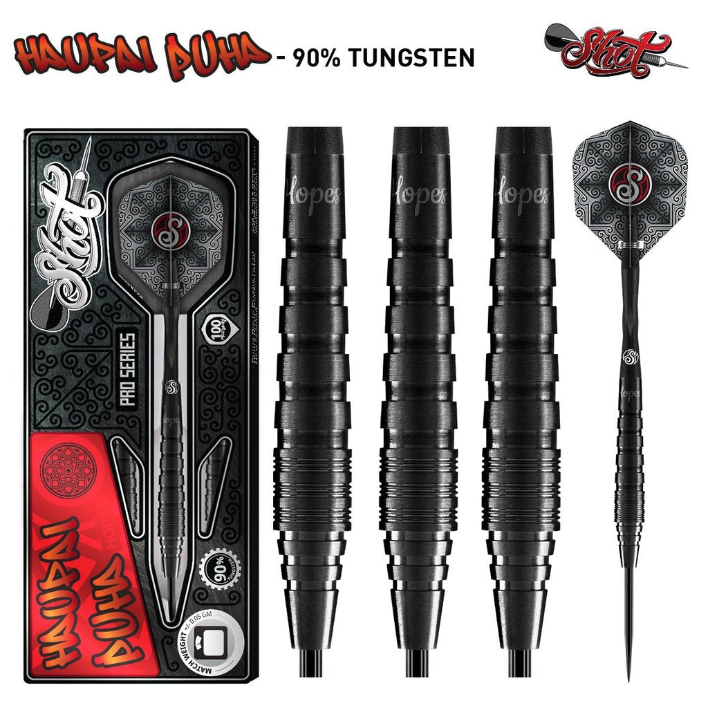 SHOT Haupai Puha Pro Series Darts - 90% Tungsten - 23g