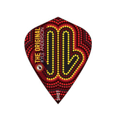 SHOT Kyle Anderson Desert Boomer Dart Flight Set - Kite