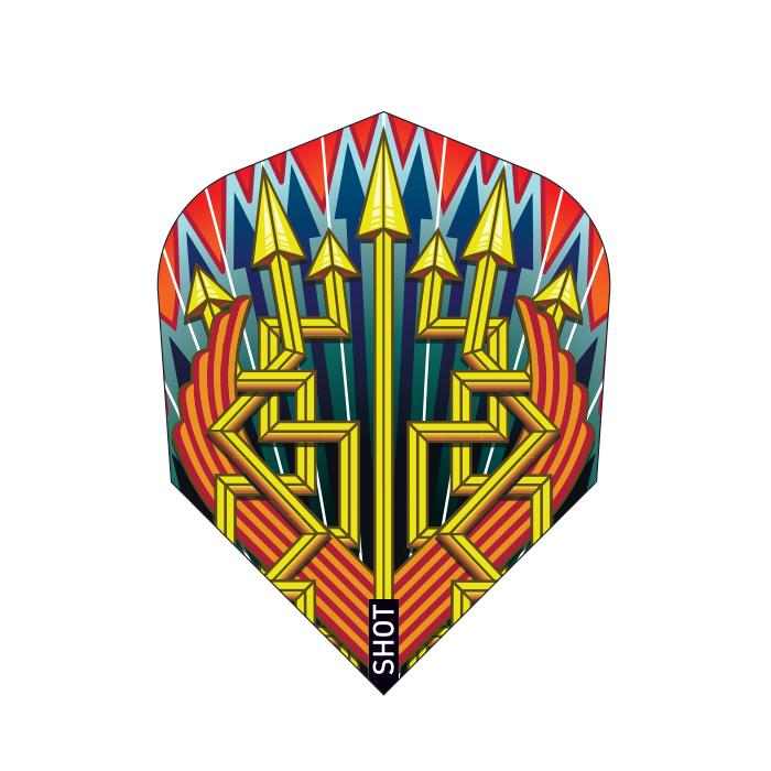 SHOT Roman Empire Legion Dart Flights  - 100 Micron Standard Small
