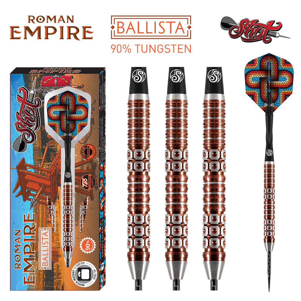 SHOT Roman Empire Ballista Darts - 90% Tungsten - 23g