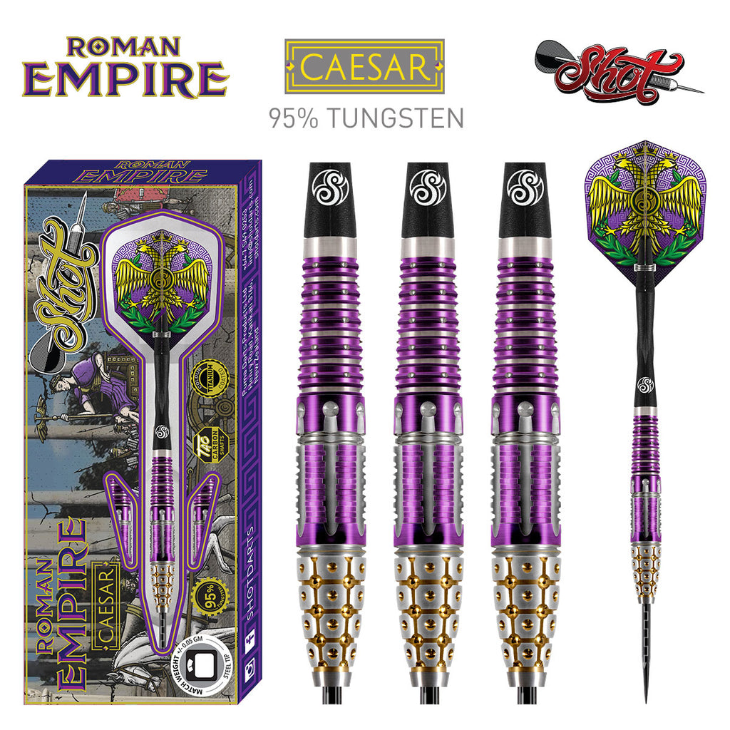 SHOT Roman Empire Caesar Darts - 95% Tungsten - 24g