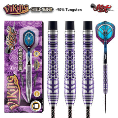 Viking Shield Maiden Steel Tip Dart Set-90% Tungsten Barrels-27g