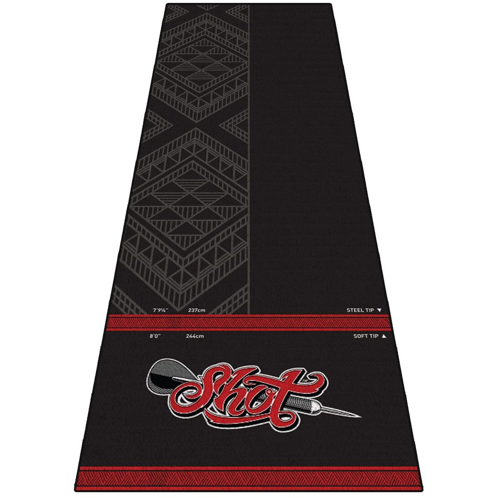 SHOT - Anti Slip Carpet Dart Mat - EXTRA WIDE 3m x 1m