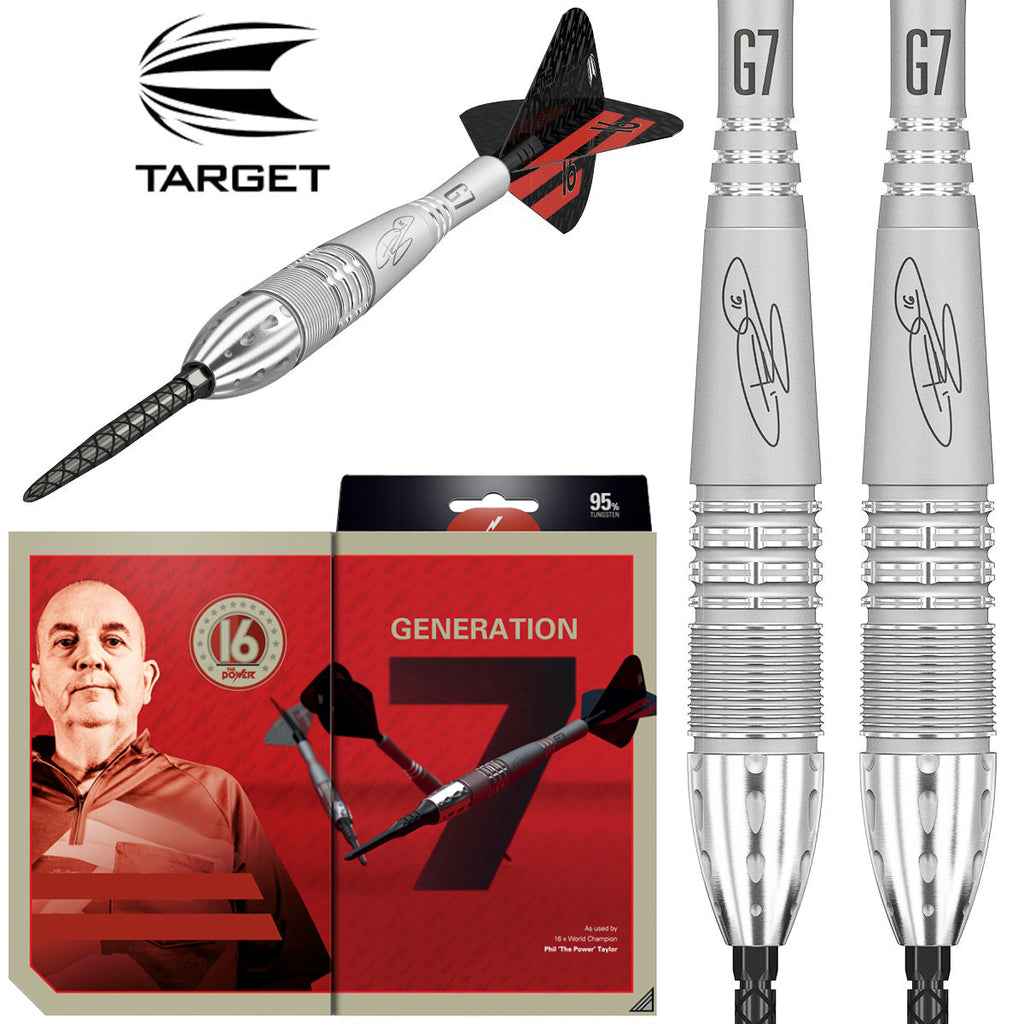 TARGET Phil Taylor Power 9FIVE G7 Swiss Point Darts - 95% Tungsten - 24g