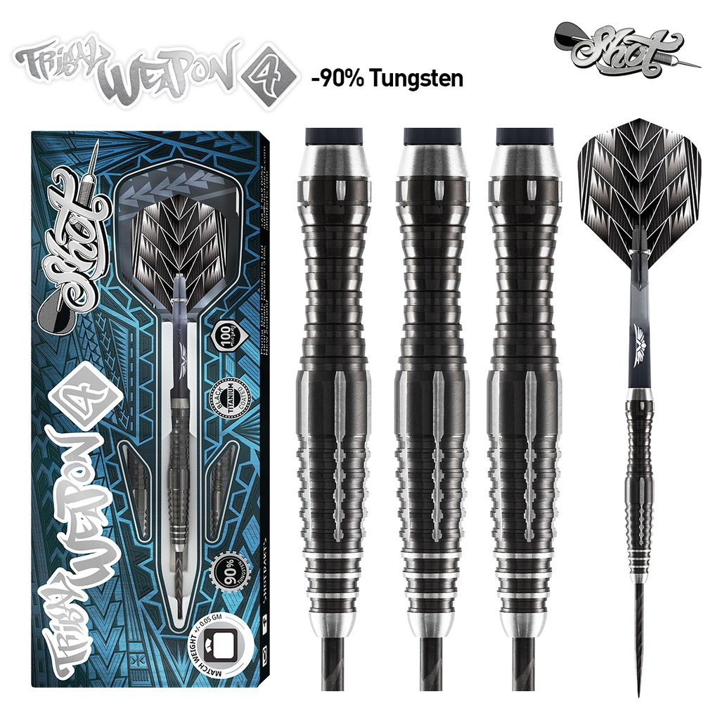Shot Tribal Weapon 4 Darts Set 90% Tungsten 22g