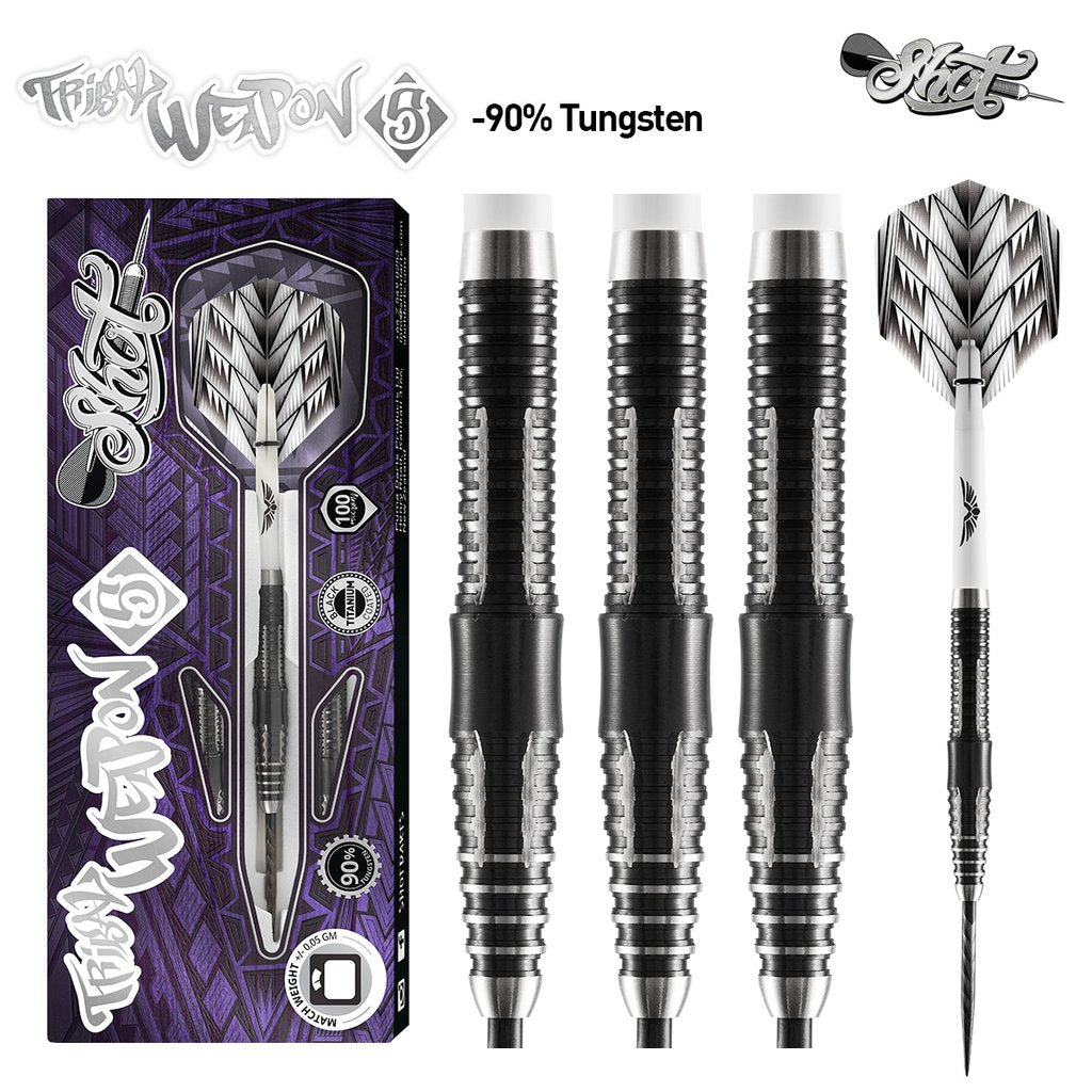 SHOT Tribal Weapon 5 Darts - 90% Tungsten - 24g