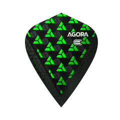 Target Agora Ultra Ghost Dart Flights Kite Shape Green
