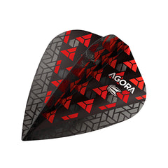 Target Agora Ultra Ghost Dart Flights Kite Shape Red