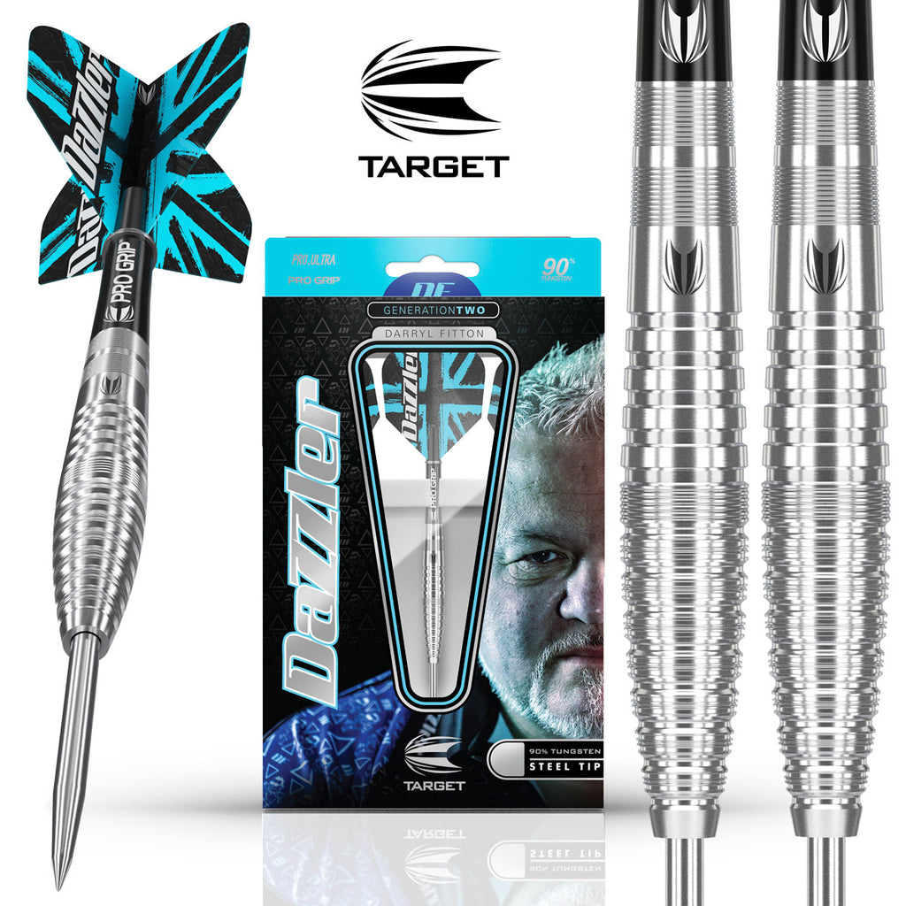 Target 2019 Darryl Fitton G2 Steel Tip Darts - 26g