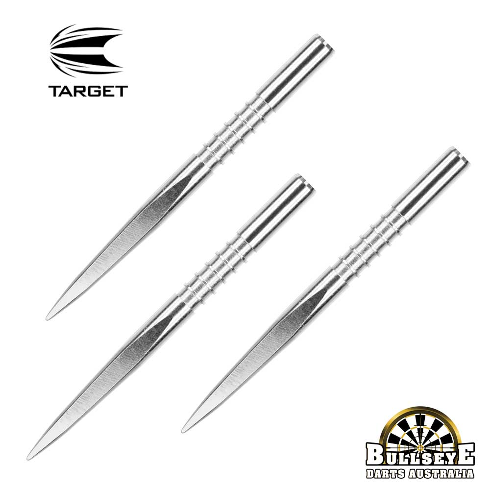 Target 32mm Fire Edge Points - Silver Nickel Grooved