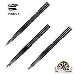Target 32mm Fire Edge Points - Black Nickel Grooved
