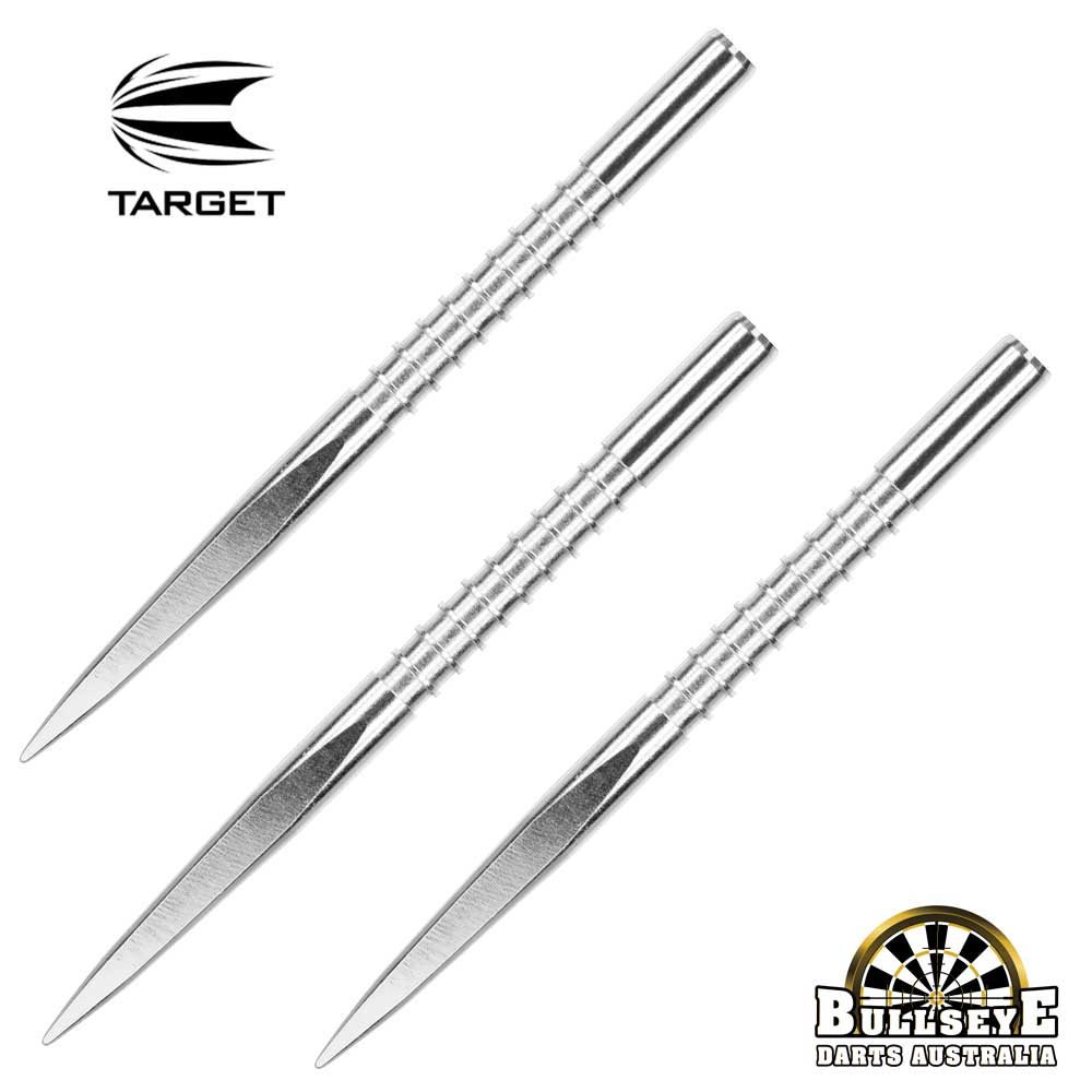 Target 36mm Fire Edge Points - Silver Nickel Grooved