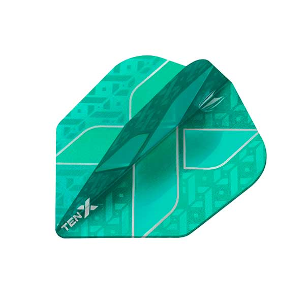 Target TEN-X Dart Flights - Low Drag Anti Deflection - Aqua