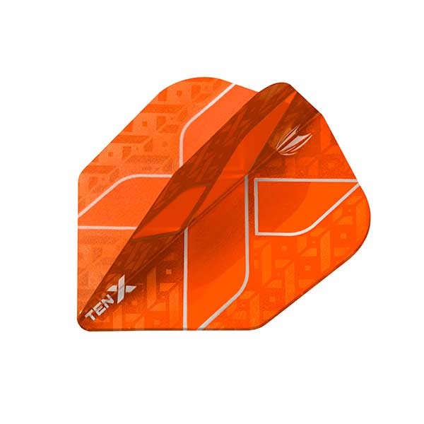 Target TEN-X Dart Flights - Low Drag Anti Deflection - Orange
