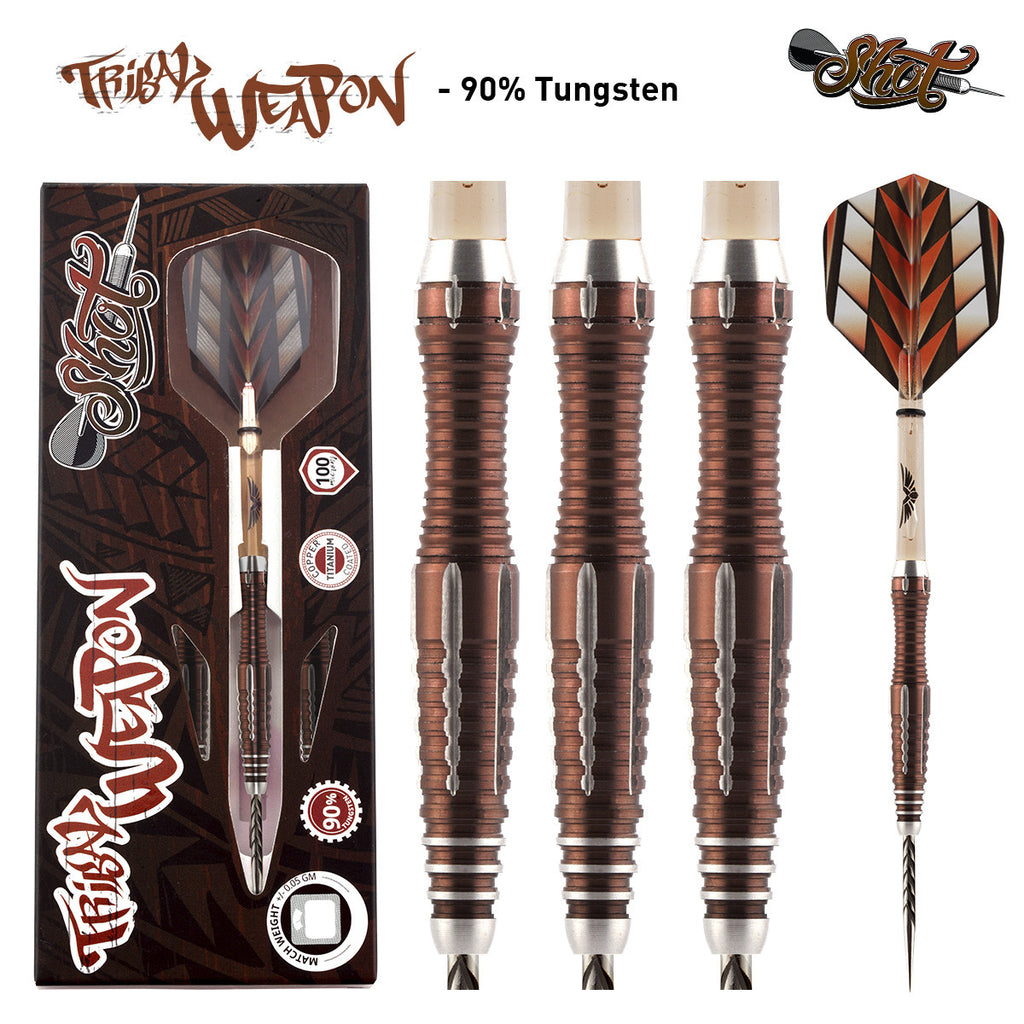SHOT Tribal Weapon Series 2 Darts - 90% Tungsten - 22g