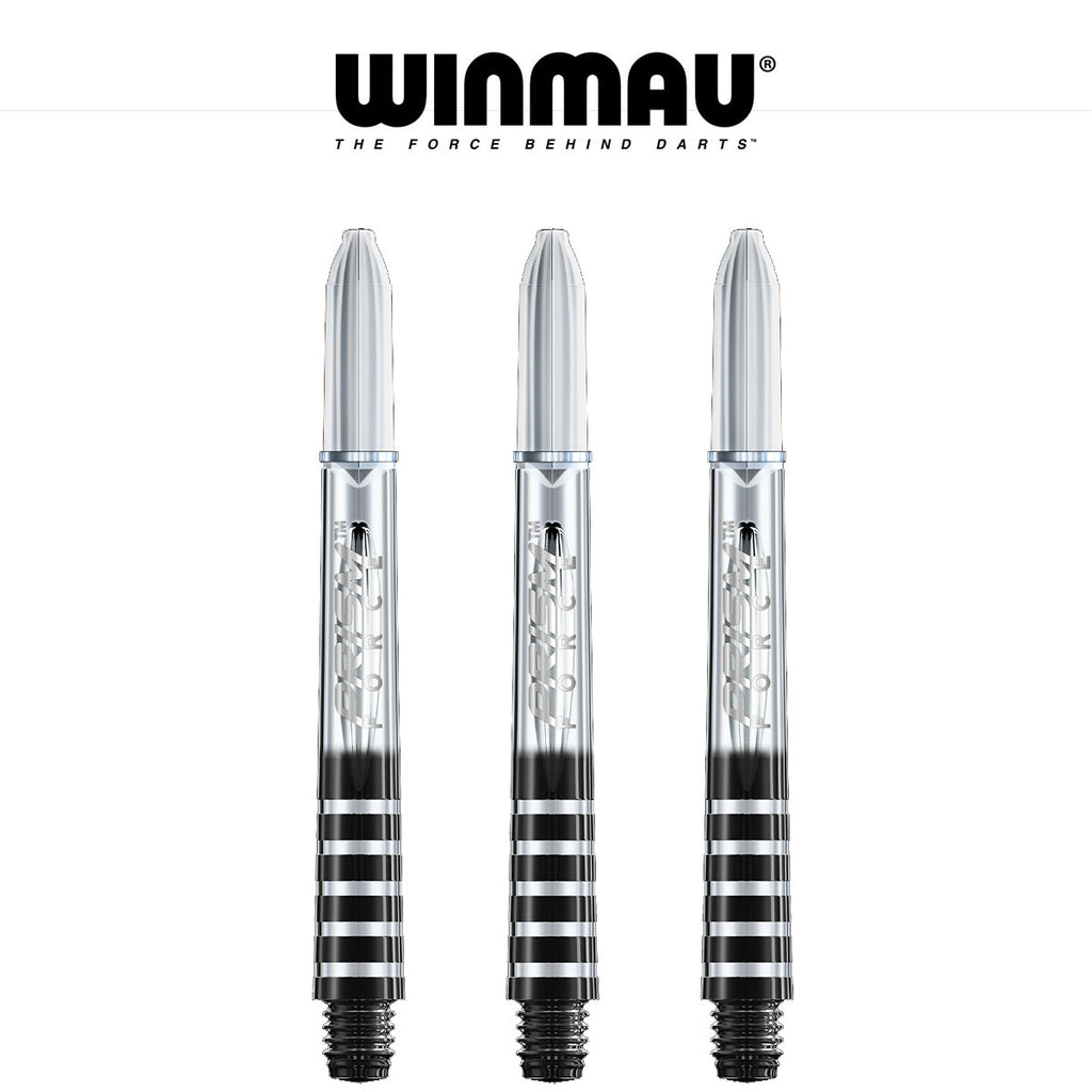 WINMAU Prism Force - Ring Lock Dart Shafts - MEDIUM CLEAR