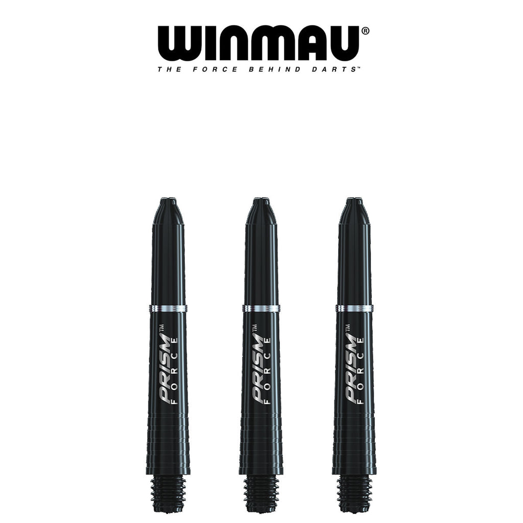 WINMAU Prism Force - Ring Lock Dart Shafts - SHORT BLACK