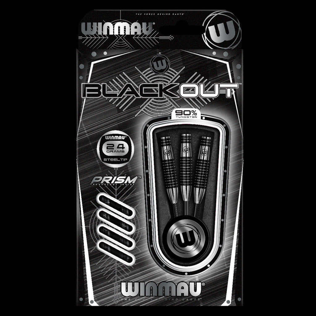 WINMAU Blackout Bomb Barrel Darts - 90% Tungsten - 24g
