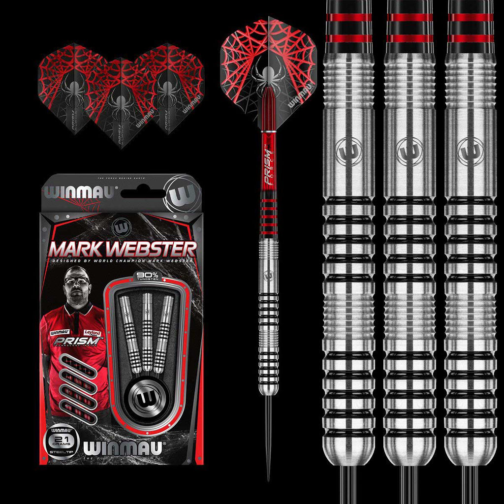 Winmau Mark Webster Professional Darts - 90% Tungsten - 25g