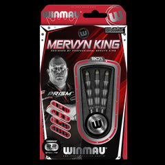 Winmau Mervyn King Darts Black Titanium PVD Grip 24g