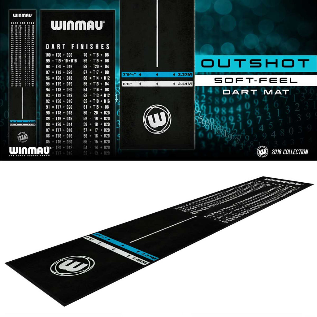 Winmau Outshot Heavy Duty Rubber/Carpet Dart Mat Peg Out Chart