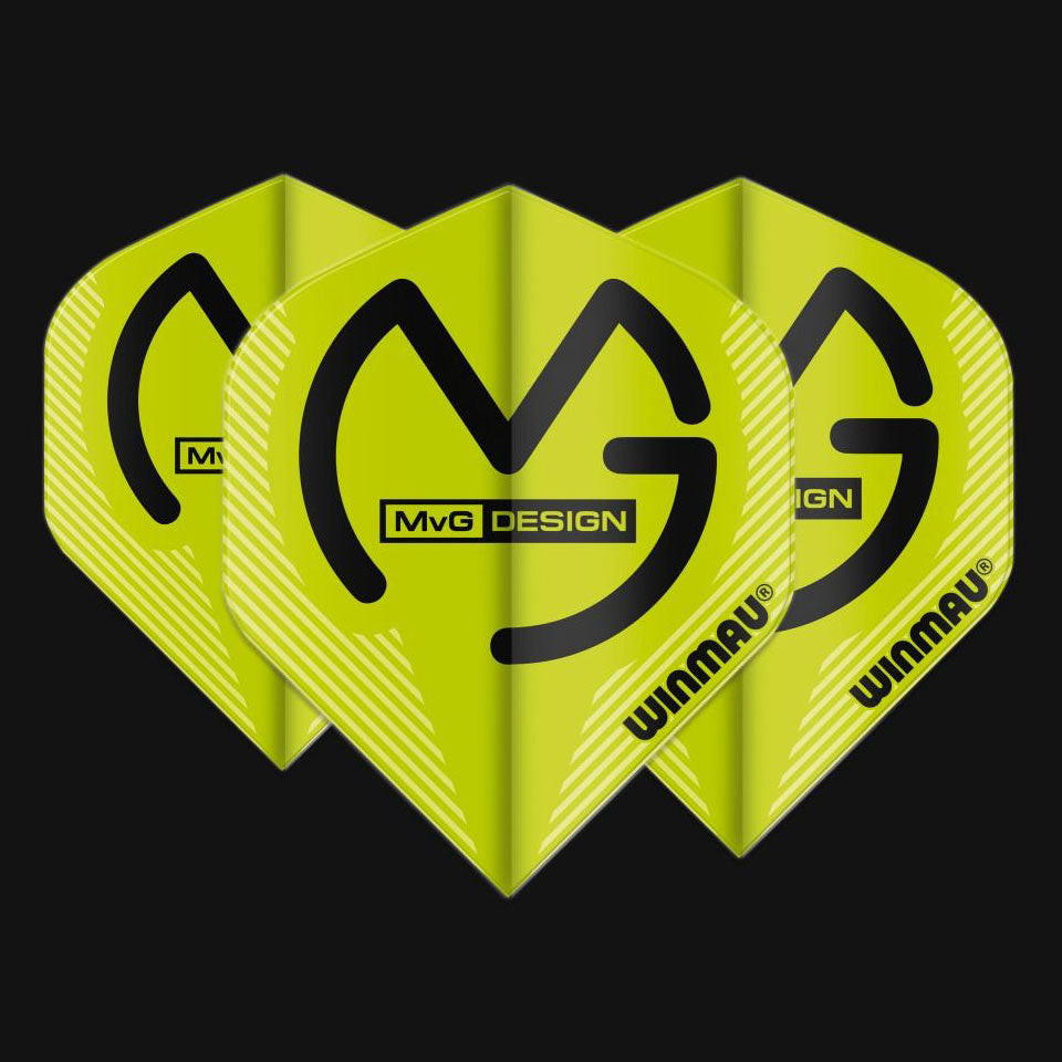 Winmau Player Mega Standard MvG Design - 75 Micron Flights - Green