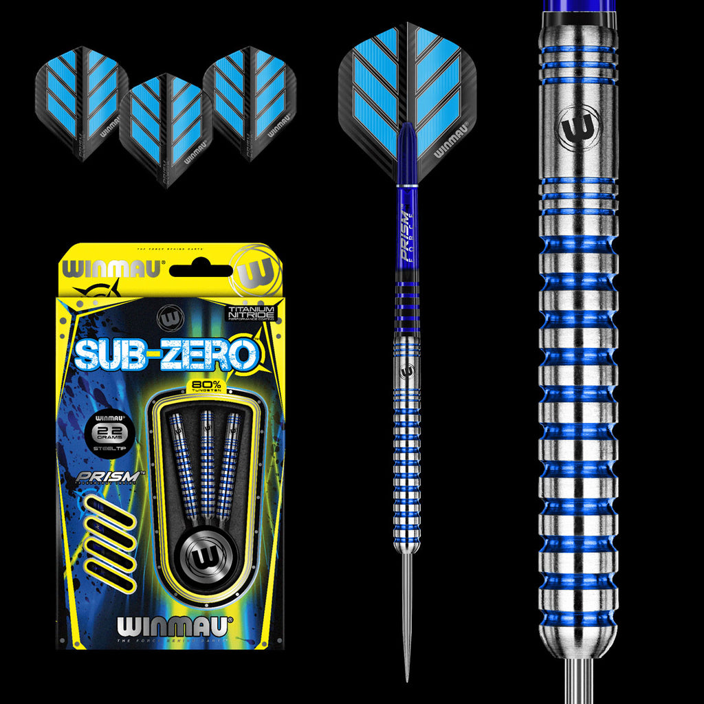 WINMAU Sub Zero Straight Barrel Darts - 80% Tungsten - 26g