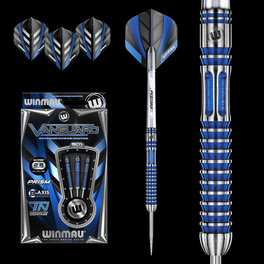 WINMAU Vanguard Darts - 90% Tungsten - 22g