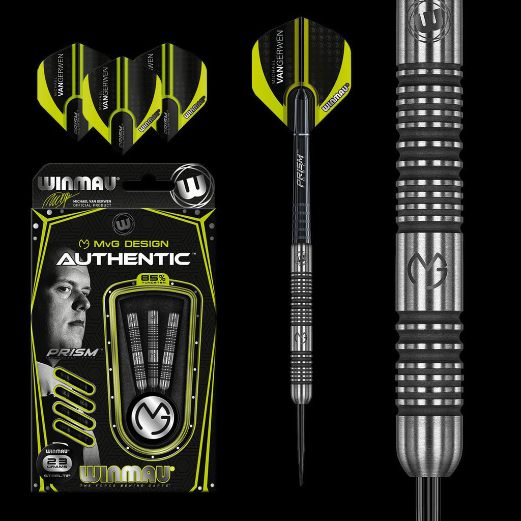 WINMAU Michael van Gerwen MVG Authentic Darts - 85% Tungsten - 23g
