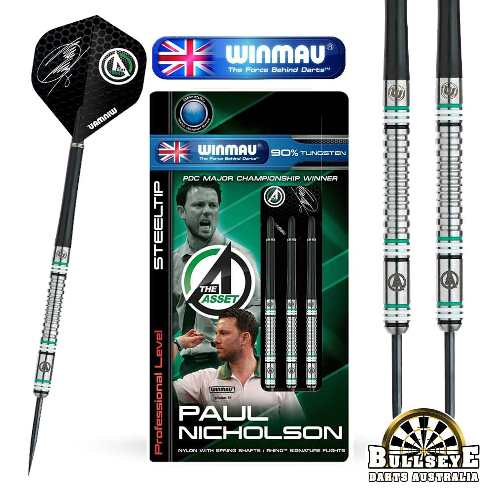 Winmau Paul Nicholson Darts Pro Player 90% Tungsten 26g