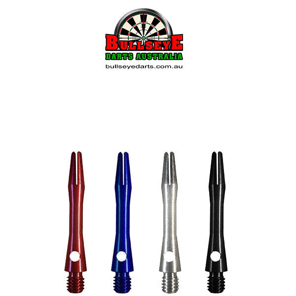 Bullseye Anodised Aluminium Shafts - Extra Short