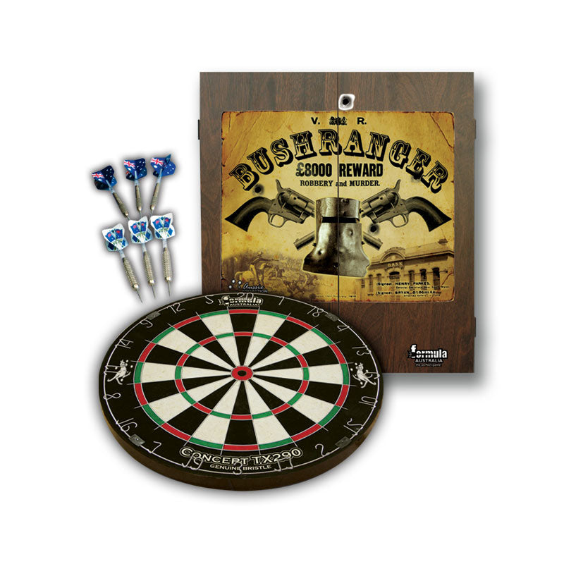 Bushranger Cabinet, Dartboard and Darts Set