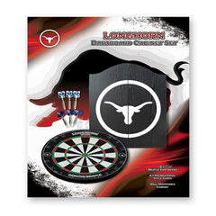 Longhorn Dartboard Cabinet, Dartboard and Darts Set