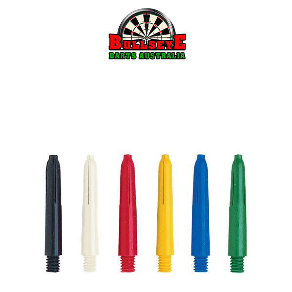 Bullseye Darts Coloured Nylon Shafts Extra Short 29mm