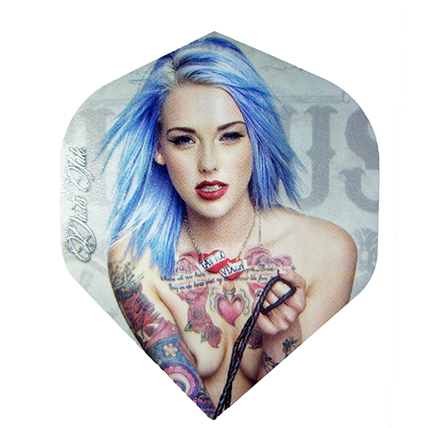 Bullseye Ink Girls Dart Flights - Blue Haired Girl