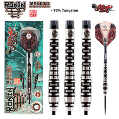 Ronin Makoto Steel Tip Dart Set - Front Weighted 90% Tungsten Barrels-22g