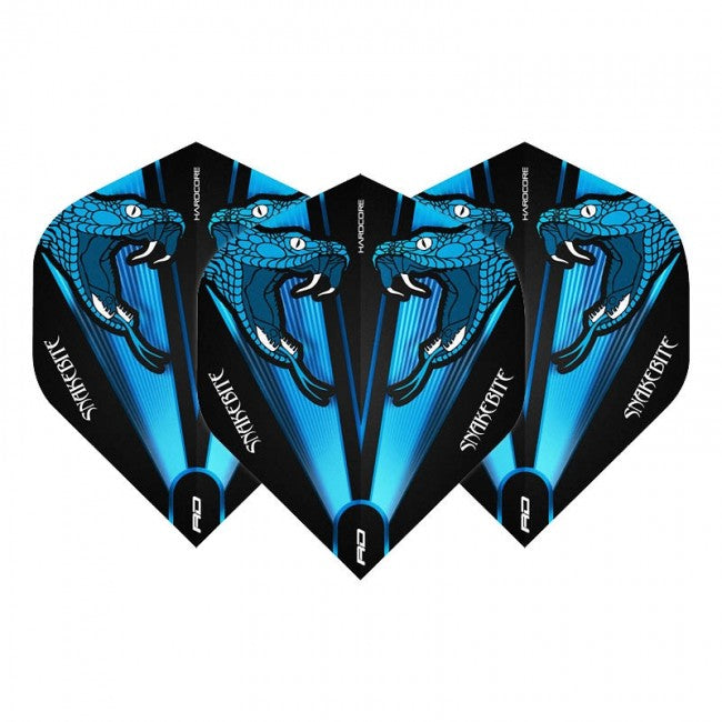 Red Dragon Peter Wright Snakebite Transparent Flights - Blue