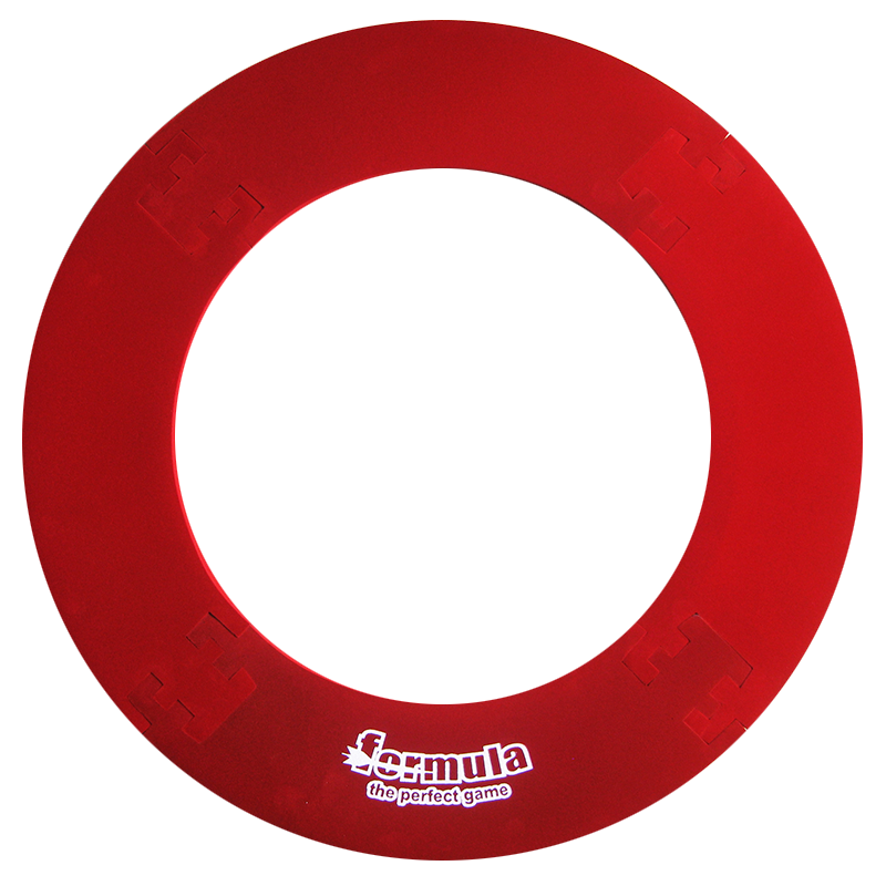 Formula 4 Piece Lightweight Dartboard Surround Red