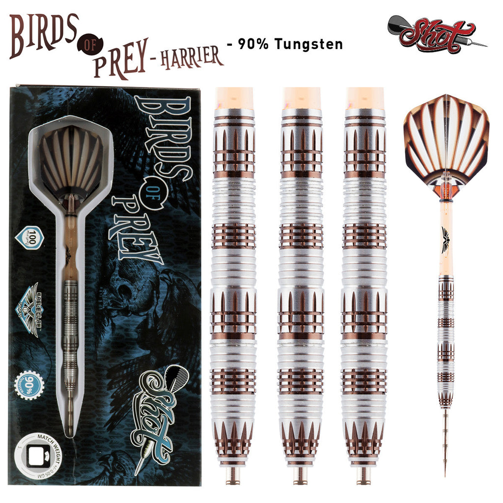 Birds Of Prey Harrier 2 Dart Set-90% Tungsten Barrels-22g
