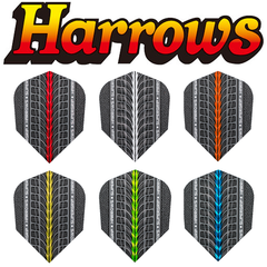 Harrows Supergrip Flights, Extra Strong Embossed Grip Zone