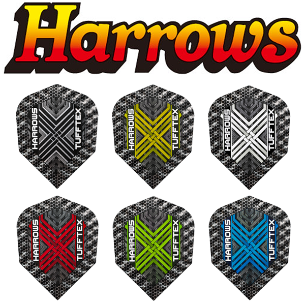 Harrows Tufftex Flights, Metallic Rigid Dimplex Edges
